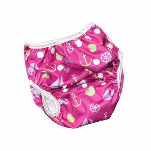 Alva girls sail boat & anchor diaper cover